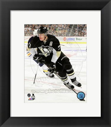 Framed Evgeni Malkin 2013-14 Action Print
