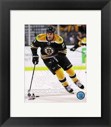 Framed Milan Lucic 2013-14 Action Print