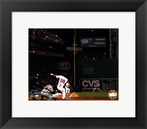 Framed Shane Victorino Grand Slam 6 of American League Championship Series Print