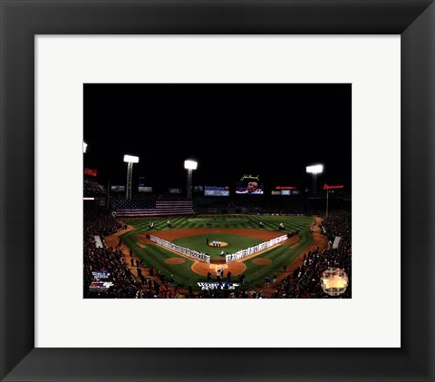Framed Fenway Park Game 1 of the 2013 World Series Print