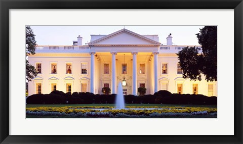 Framed USA, Washington DC, White House, twilight Print
