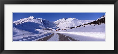 Framed Canada, Alberta, Banff National Park, icefield, road Print