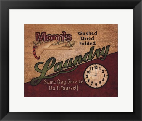 Framed Mom's Laundry Print