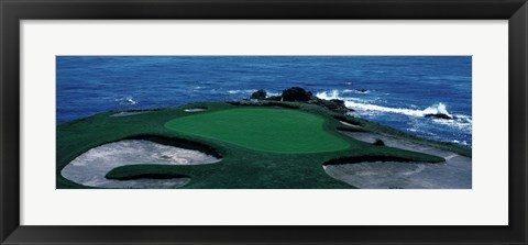 Framed Pebble Beach Golf Course 8th Green Carmel CA Print