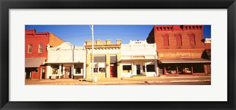 Framed Store Fronts, Main Street, Chatsworth, Illinois Print