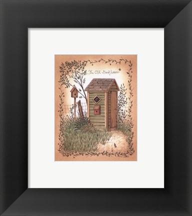 Framed Old Backhouse Print