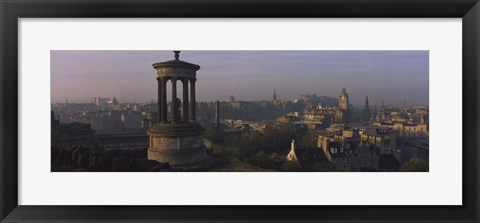 Framed High angle view of a monument in a city, Edinburgh, Scotland Print