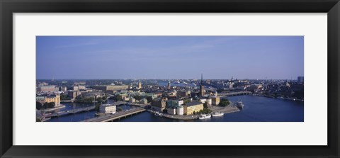 Framed High angle view of buildings viewed from City Hall, Stockholm, Sweden Print