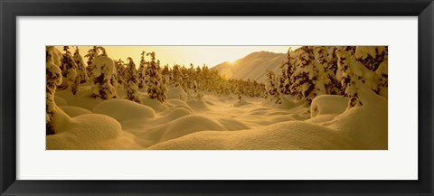 Framed Sunset, Turnagain Pass, Alaska, USA Print