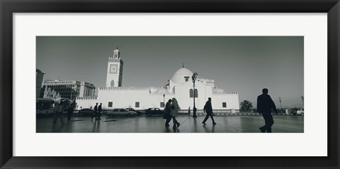 Framed Cars parked in front of a mosque, Jamaa-El-Jedid, Algiers, Algeria Print