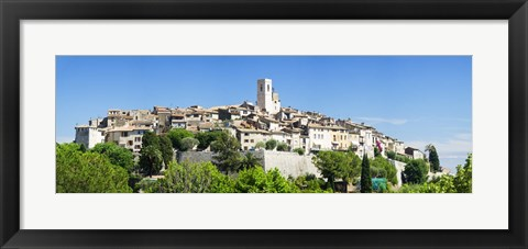Framed Low angle view of a walled city, Saint Paul De Vence, Provence-Alpes-Cote d'Azur, France Print