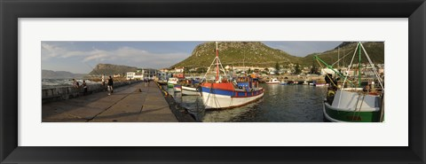 Framed Fishing boats at a harbor, Kalk Bay, False Bay, Cape Town, Western Cape Province, South Africa Print