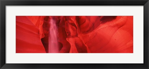 Framed Red Rock formations, Antelope Canyon, Arizona Print