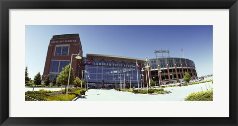Framed Facade of a stadium, Lambeau Field, Green Bay, Wisconsin, USA Print