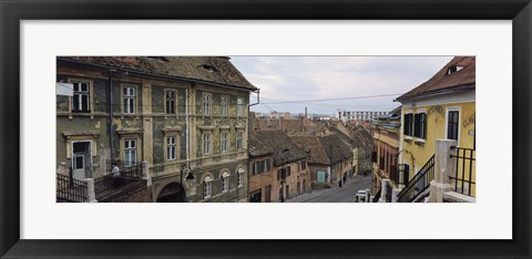 Framed Buildings in a city, Town Center, Big Square, Sibiu, Transylvania, Romania Print