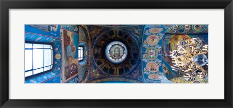 Framed Interiors of a church, Church of The Savior On Spilled Blood, St. Petersburg, Russia Print