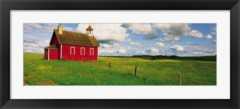 Framed Small Red Schoolhouse, Battle Lake, Minnesota, USA Print