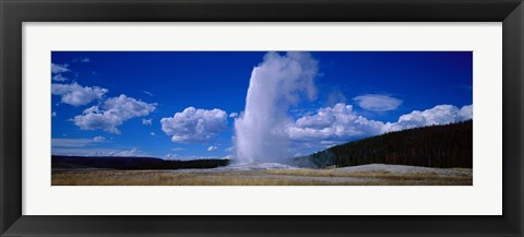 Framed Old Faithful, Yellowstone National Park, Wyoming, USA Print