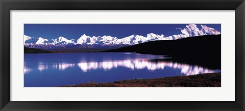 Framed Mt. McKinley & Wonder Lake Denali National Park AK USA Print
