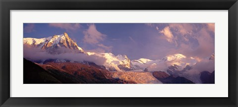 Framed Haute-Savoie, Mountains, Mountain View, Alps, France Print