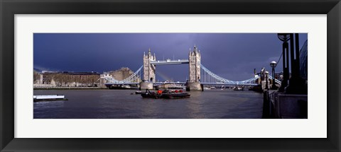 Framed Bridge Over A River, Tower Bridge, London, England, United Kingdom Print