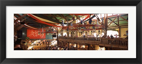 Framed Group of people in the Oktoberfest festival, Munich, Bavaria, Germany Print