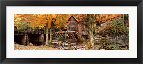 Framed Power station in a forest, Glade Creek Grist Mill, Babcock State Park, West Virginia, USA Print