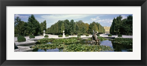 Framed Fountain at a palace, Schonbrunn Palace, Vienna, Austria Print