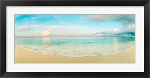 Framed Waves on the beach, Seven Mile Beach, Grand Cayman, Cayman Islands Print