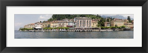 Framed Buildings at the waterfront, Lake Como, Bellagio, Como, Lombardy, Italy Print