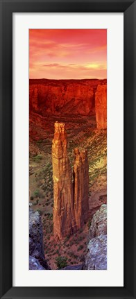 Framed Rock formations in a desert, Spider Rock, Canyon de Chelly National Monument, Arizona Print