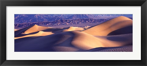 Framed Sand Dunes and Mountains, Death Valley National Park, California Print