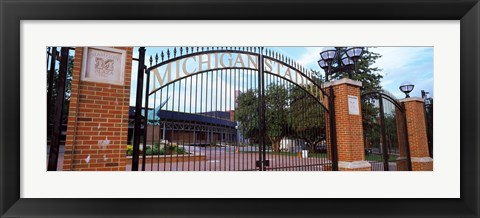 Framed Stadium of a university, Michigan Stadium, University of Michigan, Ann Arbor, Michigan, USA Print