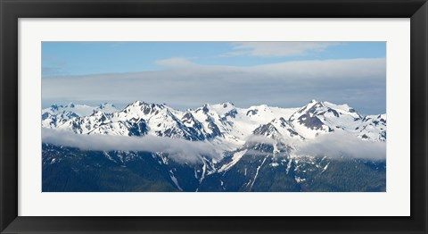 Framed Snow covered mountains, Hurricane Ridge, Olympic National Park, Washington State, USA Print