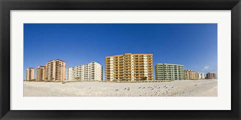 Framed Beachfront buildings on Gulf Of Mexico, Orange Beach, Baldwin County, Alabama, USA Print