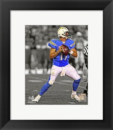 Framed Philip Rivers 2013 Spotlight Action Print
