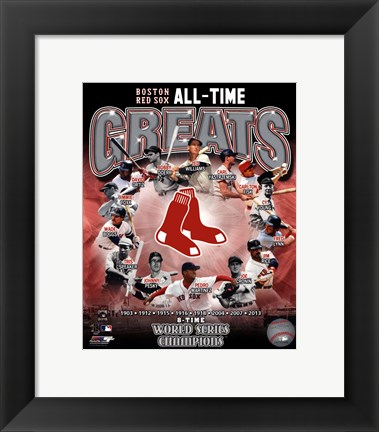 Framed Boston Red Sox All Time Greats Composite Print
