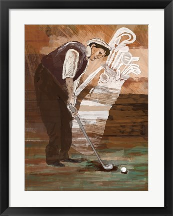 Framed Time to Putt Print