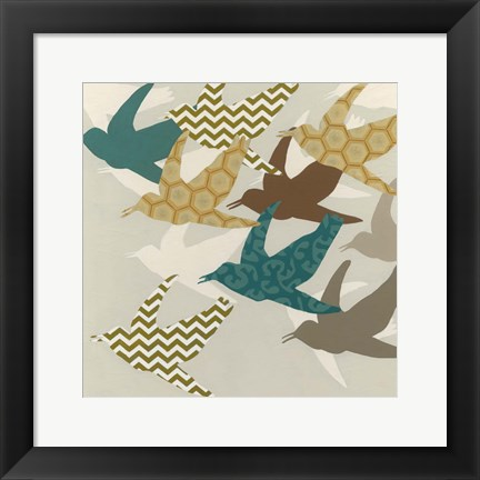 Framed Patterned Flock II Print