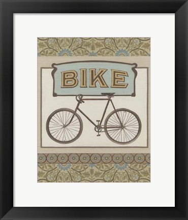 Framed Bike Print