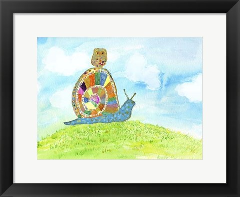 Framed Meadow Snail Print