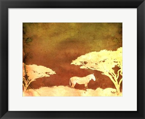 Framed Safari Sunrise III Print