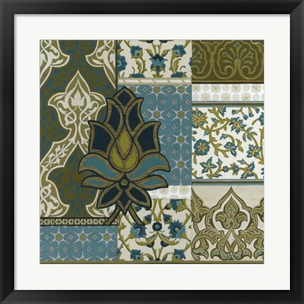 Framed Persian Patchwork I Print