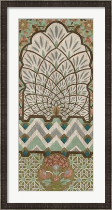 Framed Peacock Tapestry II Print