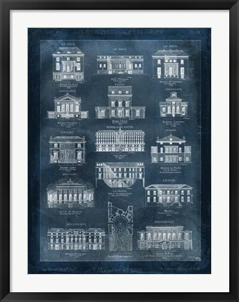Framed Maisons a Paris Print