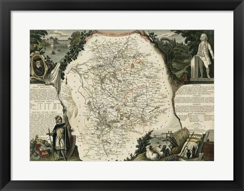 Framed Atlas Nationale Illustre VI Print