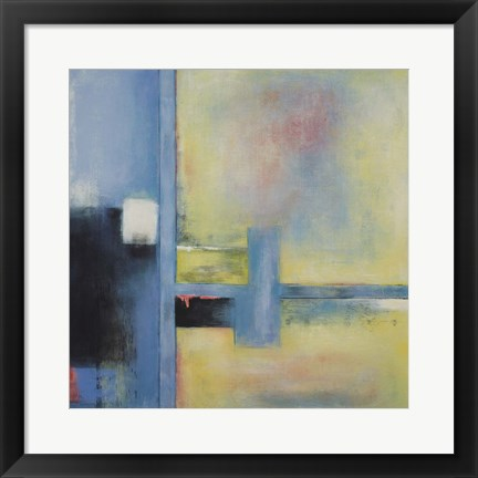 Framed Touch of Blue II Print