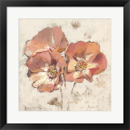 Framed Painted Roses Print