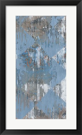 Framed Harlequin Blue II Print