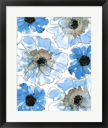 Framed Water Blossoms II Print